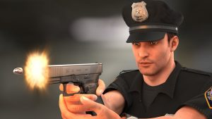 policeman game 3d model